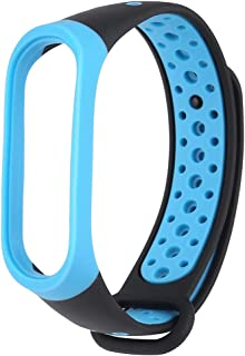 MIMEI Replacement Band for Xiaomi Mi Band 4, Breathable Sport Silicone Wristbands Bracelet for Woman Men Ventilate Sport Soft Wristband Wrist Strap (10 X 6 X 3 cm, Blue)