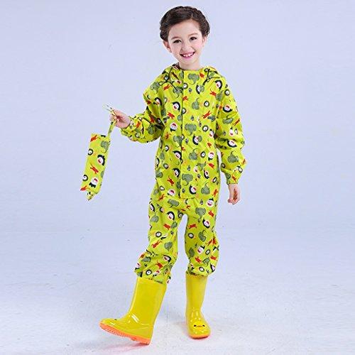 Vestes anti-pluie QFF Child Raincoat Siamese Rain Chants Boys and Girls Poncho Student Protection de l'environnement (Couleur : Le Jaune, Taille : XL)