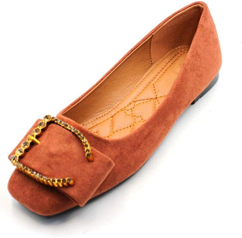 Phil Betty Women Flats shoes Fashion Soft Soles Square Toe Comfort Ballet Flats shoes