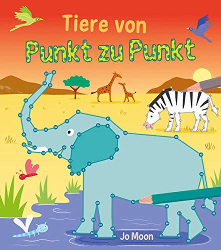 Punkt-zu-Punkt für Kinder: Tiere von Punkt zu Punkt