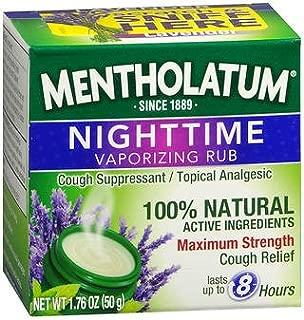 Mentholatum Nighttime Vaporizing Rub - 1.76 oz, Pack of 4