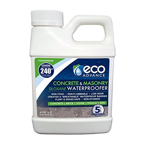 Eco Advance EACON16CON Waterproofer 16-oz Concrete/Masonry Siloxane Water proofer Liquid Concentrate