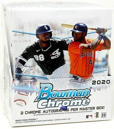 2020 Bowman Chrome Baseball Hobby Box (12 Packs/5 Cards: 2 Autos)