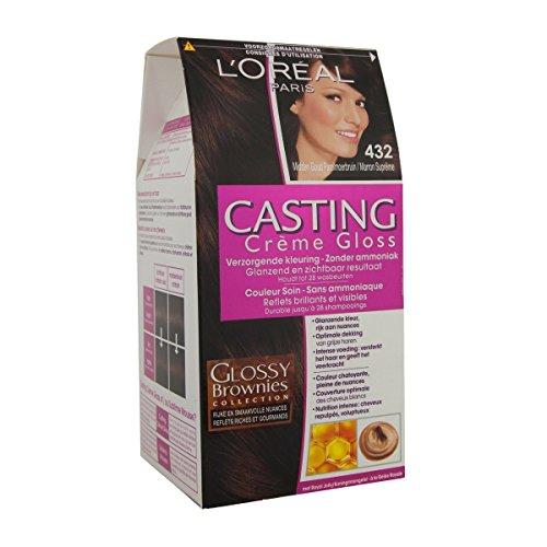 test L'Oreal Paris Casting Cream Glanz 432 Kaffee Toffee Brown Gold Pearl – Haarfärbemittel Deutschland