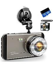 【2019進化版&フルHD1296P】 ドライブレコーダー 前後カメラ 32GB SDカード付き デュアルドライブレコーダー 1800万画素