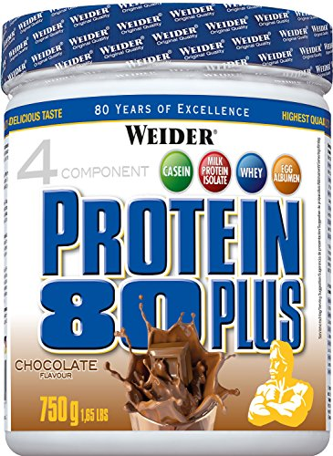 WEIDER Protein 80 Plus Eiweißpulver, Shoko, Low-Carb, Mehrkomponenten Casein Whey Mix für Proteinshakes, 750g