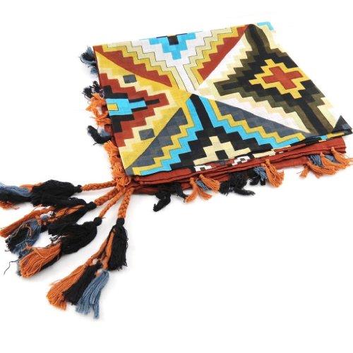 Les Trésors de Lily J2721 - Cuadrados 'Azteca' marrón colores.