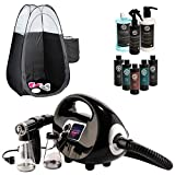 Fascination Spray Tanning Machine Kit with Sjolie Natural Sunless Tanning Solution and Pro Supplies Bundle including...