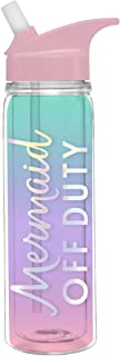 Slant Mermaid Off Duty Multi Colored Double Wall Insulated Water Bottle, 18 Ounce