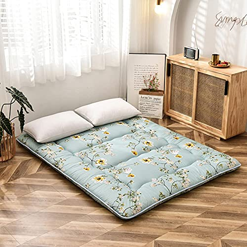 Tjock 8-10cm japansk golvmadrass Futon Tatami sovande madrass golv säng pad, bärbar sovsal fällbara madrass (150x200cm),B,120x200cm (47 * 79 inches)