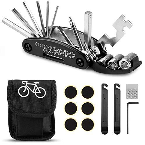 CYWEB 16 en 1 Multifunción para Bicicletas, Kit de Herramientas para Bicicleta, Herramientas para Bicicletas Ciclismo Herramientas, Kit Pinchazos Bici