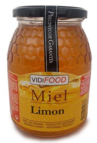 Miel de Limón - 1kg - Fabricada en España - Tradicional & 100{8fd71d148baed08eb6cabb513064599d6ac5cddebb9e9d43c802f263489c1433} pura - Aroma Floral, Sabor Dulce