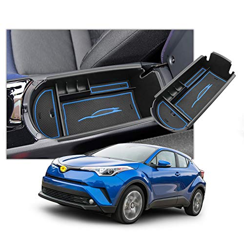 CHR ZYX10//NGX50 Secondary Armrest Storage SHAOHAO 2018-2020 Toyota C-HR Center Console Organizer Compatible with Toyota C-HR Armrest Storage Blue