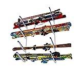 StoreYourBoard Horizontale Multi Ski Wall Rack, Haus und Garage Skifahren Storage Mount