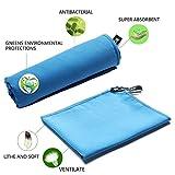 AYSW Asciugamani 80x160cm Asciugamano Blu da Palestra, Sportive, Viaggio o Campeggio,Spiaggia in Microfibra