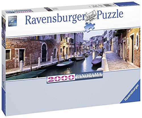 Ravensburger Italy- Puzzle Venezia di Sera Panorama, Multicolore, 2000 Pezzi, 16612