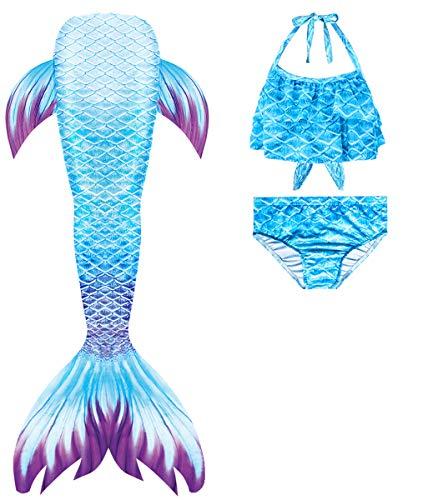 shepretty Coda di Sirena con Bikini per Bambina,wupuG1,120