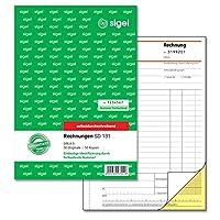 Sigel SD131連続番号付きの請求書1枚目と2枚目の印刷シート、非カーボン複製ページ、A 5 2 x 50 BL