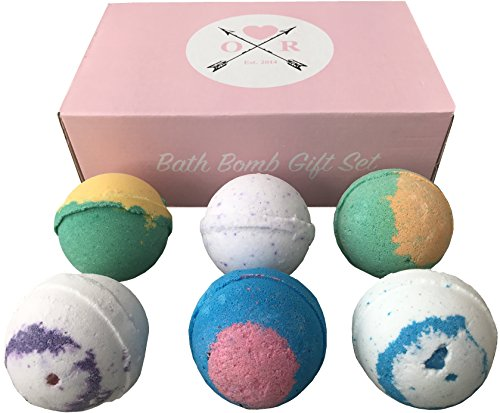 Oliver Rocket Bath Bomb Set, Extra Large 4.5 ounces per Bath Fizzy (Set of 6)