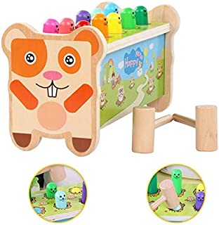 HTJSDC Children's small toy hammer machine noise baby hamster game multicolor educational toys