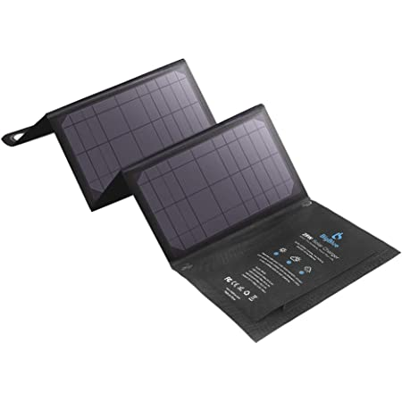BigBlue 3 USB Ports 28W Solar Charger (5V/4.8A Max Total) Foldable Waterproof Outdoor Solar Battery Charger Compatible for iPhone Samsung Galaxy LG etc