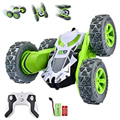 【Tricks And Turns Or Go Off Road】Flip it 180 degrees,instantly rotate it in a full 360 degree circle.Roll and flip or even go off road in the backyard,your child will be endlessly entertainment. 【High Speed & Anti-Interference System】 With 2.4GHz int...