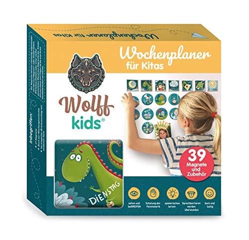 Wolff kids magnetischer Tagesplan und Wochenplaner für Kindergarten und Grippe, Kita Kalender, Kindergarten Wochenplan, Morgenkreis
