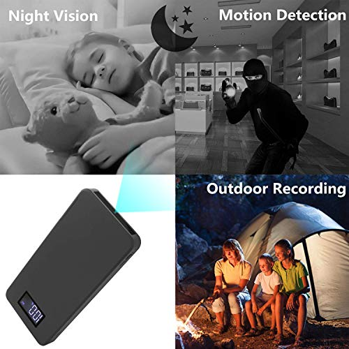 Mini-Kamera 1080P Tragbare Kleine Überwachungskameras 10000mAh Kamera mit Nachtsicht Bewegungserkennung Nanny-Videokamera Schwerkraftsensor Loop-Aufnahme (32 GB integriert)