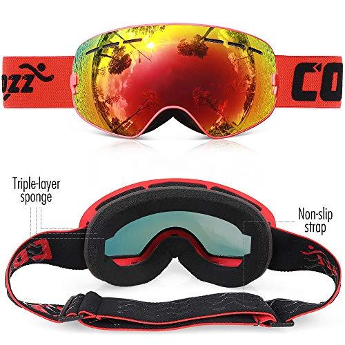 Generieke Skibril Kinderckids Skibril 4-15 jaar professionele anti-condens-kinder-showboardbril Double Uv400 Kids Skiing Mask Glasses