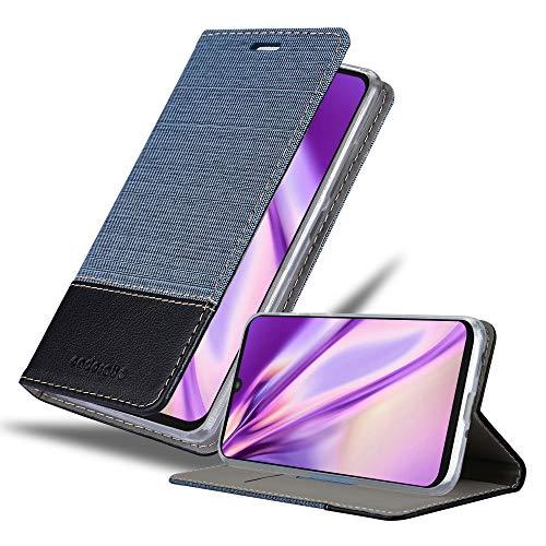 Cadorabo Hülle für Motorola ONE Zoom in DUNKEL BLAU SCHWARZ - Handyhülle mit Magnetverschluss, Standfunktion & Kartenfach - Hülle Cover Schutzhülle Etui Tasche Book Klapp Style
