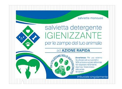 Nuova Butos 80 Salviette detergenti per Zampe Cani - IGIENIZZANTE - Imbustate singolarmente