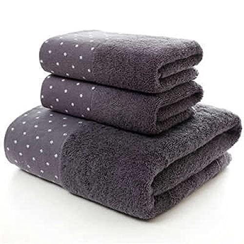 Toalla de baño de microfibra de 3 piezas/juego de 100% algodón toalla de baño conjunto adulto absorbente toalla deportiva 2 toallas de cara y 1 toalla de baño