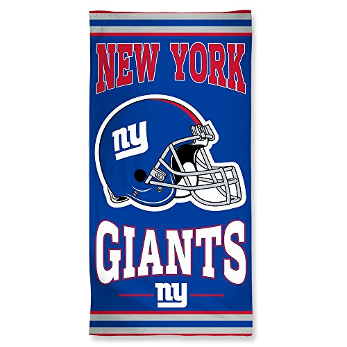 WinCraft NFL New York Giants Fiber Beach Towel, 9lb/30 x 60