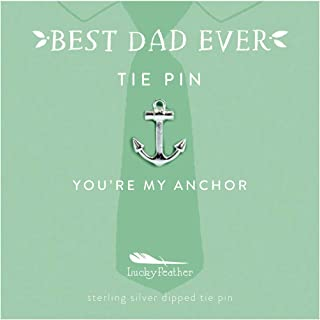 """Lucky Feather """"Best Dad Ever Tie Pins"""