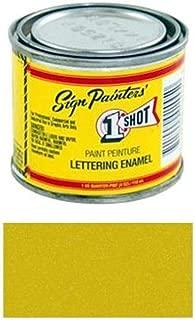 1 Shot Letter Enamel 109L Metallic Gold 4Oz