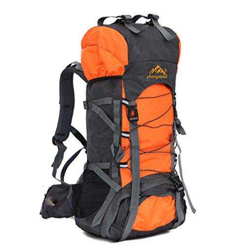 Mountaintop 50L Sac à dos de randonnée/trekking/escalade/camping/voyage pour alpinisme (Orange)