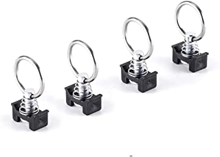 MOTO4U Single Stud Fitting Tie Down Anchor Quick Release Ring Spring Bolt L Track Fitting Airline Track (4Packs)