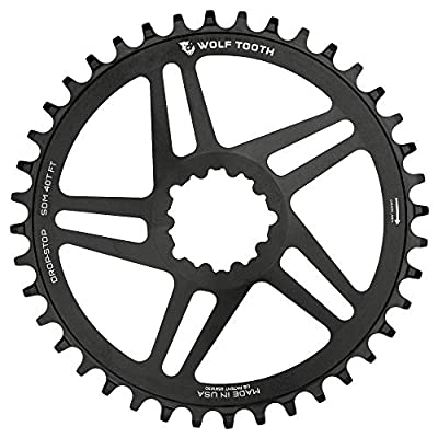 Wolf Tooth Components Drop-Stop Chainring: 32T, SRAM Direct Mount, 3mm Offset, For Boost Chainline