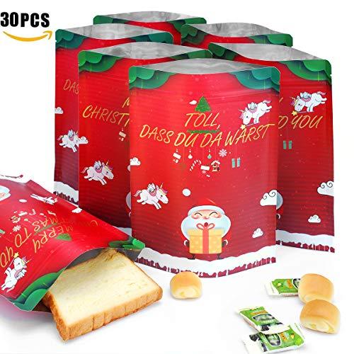 EKKONG 30 Stück Geschenktüten, Papiertüten liebevoll Bedruckt aus Kraftpapier, zum Verpacken von Kinder Geschenken, Gast, Mitgebsel, Kindergeburtstag, Hochzeit