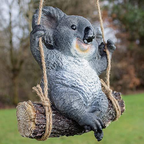 Jardín mile columpio Koala Oso Resina Jardín Ornamento Swing Koala Interior Exterior Escultura Estatua Adornos Decoración Patio Césped