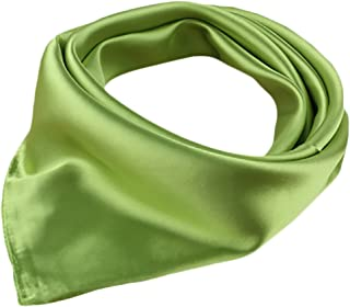X&F Women's Solid Stain Charmeuse Neckerchief Square Scarf 23