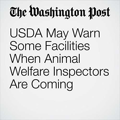 USDA May Warn Some Facilities When Animal Welfare Inspectors Are Coming copertina