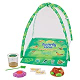 Product Image of the Insect Lore Deluxe Butterfly Garden with Live Cup of Caterpillars & Feeding...