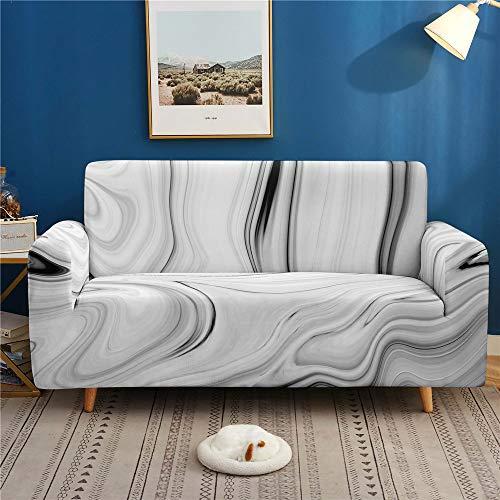 Surwin Sofabezug Sofa Überwürfe 1 2 3 4 Sitzer, Muster Elastische Universal Sofahusse Sofa Abdeckung Stretch Schonbezug Couchbezug für Armlehnen Sofa (grau,2 Sitzer (145-185cm))