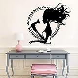 YCYY Art Sticker Mural Salon de Coiffure Papier Peint décoratif Autocollant Mural pour Salon de Coiffure Vinyle décalcomanie Coiffure Autocollant décoratif 57 X 60 Cm