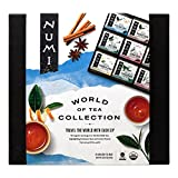 Numi Organic Tea World of Tea Variety Gift Set, Green, Mate & Herbal Tea Bags in Bamboo Chest (Packaging May Vary), 45 Count