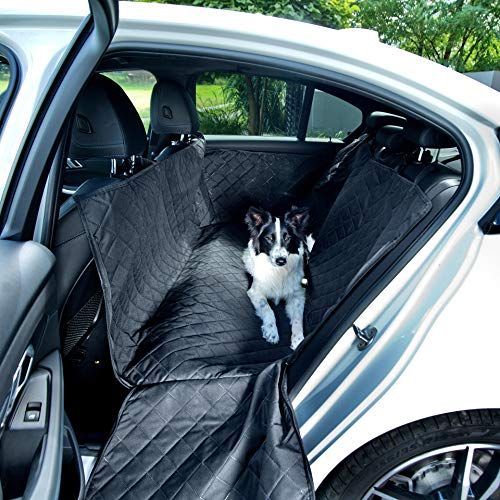 BedDog rear seat protection mat, car cover for pets with side protection, a comfortable blanket for your dog, hammock - Back seat