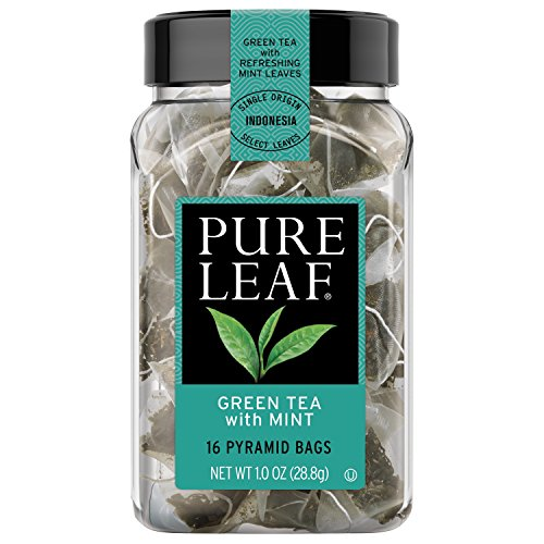 Pure Leaf Hot Tea Bags, Green Tea with Mint, 16 count