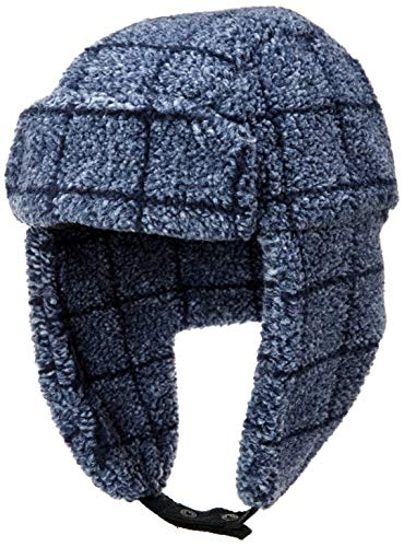 Amazon Brand - Goodthreads Men's Sherpa Trapper Hat, Navy Windowpane, X-Large