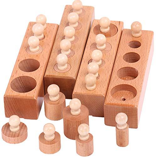 JOKFEICE Matériel Montessori Montessori Jouet Early Educational Toy Science Project Outil pédagogique pour Les Tout-Petits Enfants Garçons Filles Âge 1 2 3 Ans